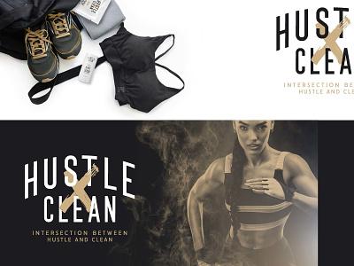 Hustle Clean - WIP Option 3 logo design adobe illustrator type brand branding typography logo graphic design design