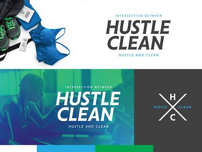 Hustle Clean - WIP Option 2 type illustrator logo design brand adobe branding typography logo graphic design design