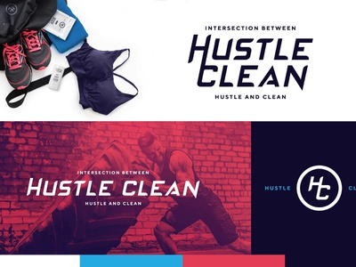 Hustle Clean - WIP Option 1 branding type illustrator logo design brand adobe typography logo graphic design design