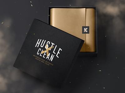 Hustle Clean - Box Concept WIP type creative logo design photoshop brand texture packaging adobe branding typography logo graphic design design