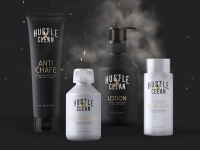 Packaging concept - Hustle Clean WIP photoshop illustrator texture type packaging creative brand adobe branding typography logo graphic design design