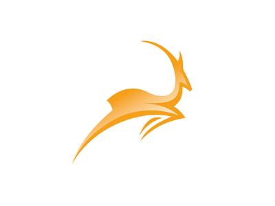Pronghorn Running identity logo antelope pronghorn antelope running trail running animal