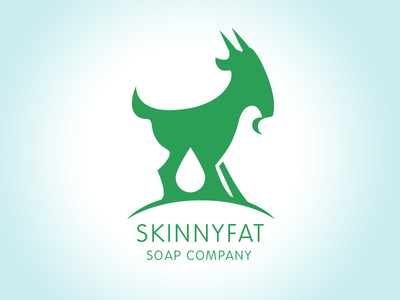 Skinnyfat Soap Company goats milk soap handmade craft farm branding goat logo