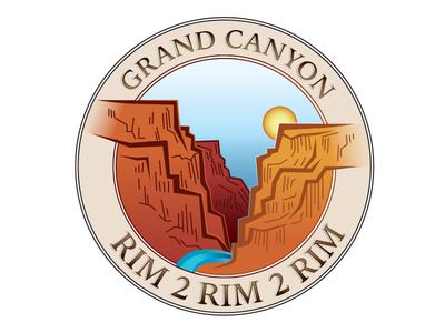 Grand Canyon - Rim 2 Rim 2 Rim trail running national park grand canyon arizona tshirt logo
