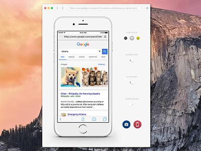 Smock - Responsive Screenshot App ui web design mobile design responsive design kittens mac app screenshot