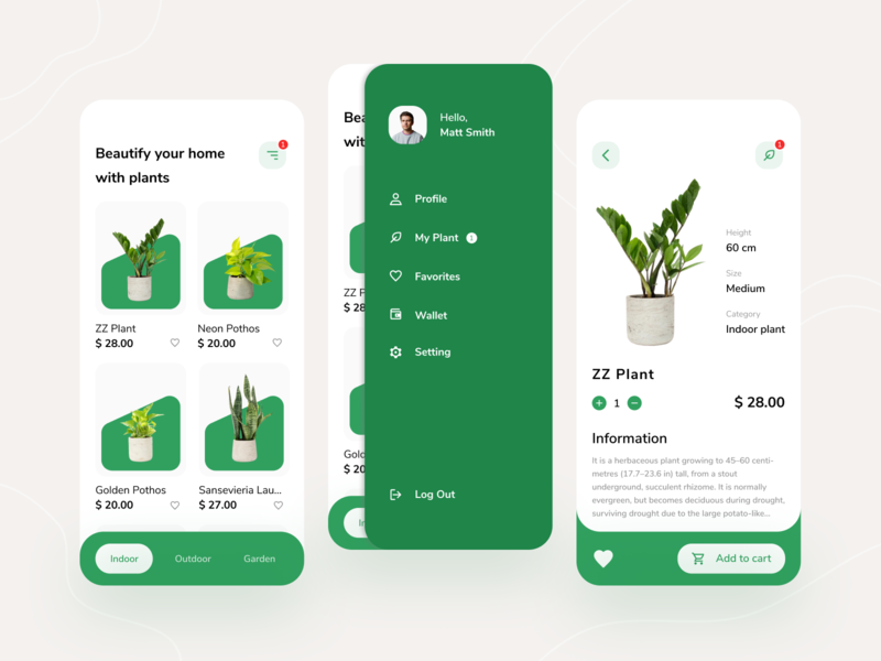 Plant Shop App Exploration card ui card product flower shopping app shop mobile app mobile ui nature green plants plant ui simple design application app android app design android app android