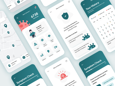 Virus Tracking App medicine medical android ios healthcare product design product covid 19 covid-19 covid19 covid virus design mobile app 2020 trend flat ux ui
