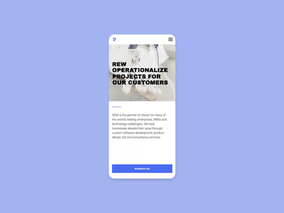 REW IT Consulting Company — Responsive Design product design product website design webdesign web design web typography minimal minimalistic responsiveness responsive website mobile app design animation 2020 trend flat ux ui
