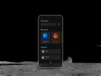 Mobile App – Planet Scanner Dark UI Concept mobile app design mobile design video planet space dark app dark ui mobile app mobile ui scan mobile app animation design flat 2020 trend ux ui