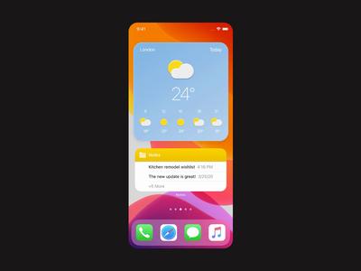 IOS14 Weather Widget design neumorph neumorphism neumorphic flat 2020 trend ux ui ios mobile app widget weather ios14