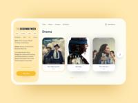 Online Cinema Platform Concept product clean movie cinema web design design web website flat 2020 trend ux ui