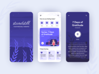 Meditation and Mindfulness App Concept product design ios mindfulness meditation mobile app design flat 2020 trend ux ui