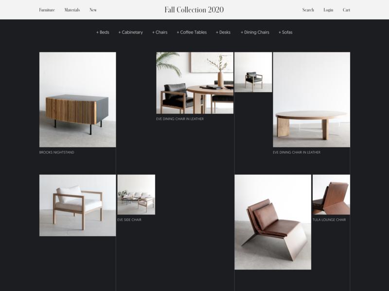 Furniture E-Commerce Store Concept furniture online shopping online store online shop store e-commerce ecommerce web design web website design flat 2020 trend ux ui