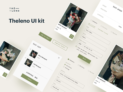 Theleno UI Kit flowers shop e-shopping e-shop e-commerce ecommerce webdesign web design web website design flat 2020 trend ux ui