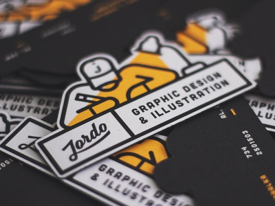 New Logo = New Cards drawing illustration business cards logo