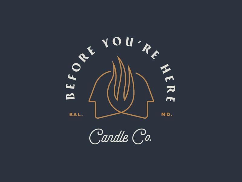 BYH Badge candle lockup logo face badge