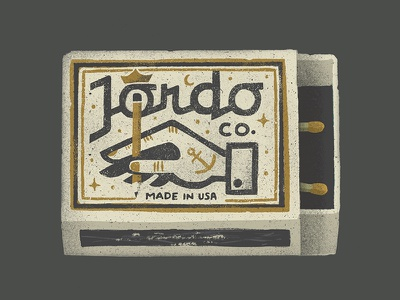 Playing With Matches texture pencil logo lettering hand drawn fire matchbox matches