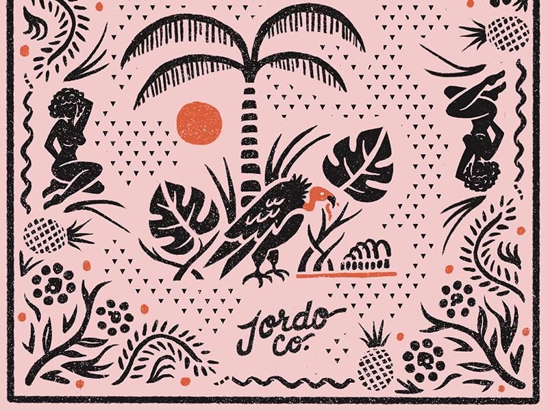 Tropic Vulture Full pattern tropical palm tree hawk eagle bird vulture illustration bandana
