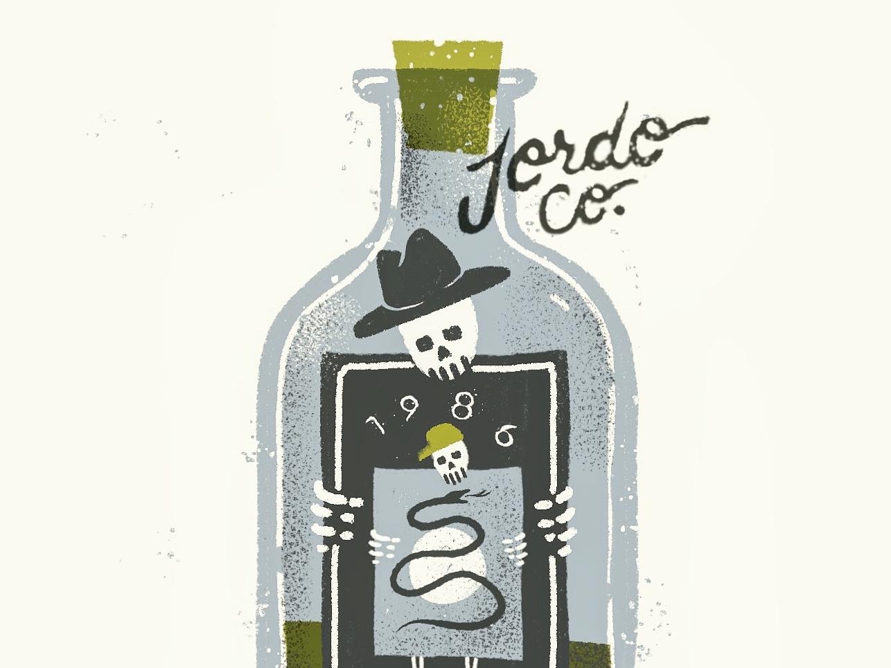 Sept. '86 ipad snake skeleton texture grit illustration 1986 label bottle doodle procreate