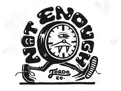 Fleeting script jordoco retrosupplyco inky texture handlettering lettering time fast short running clock illustration inktober