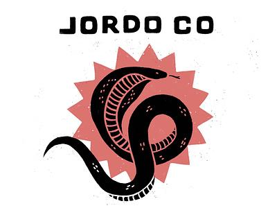 Jordo Co Snek lettering cobra handdrawn bold gritty snake