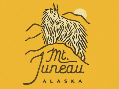 Juneau apperal tshirt goat mountain juneau alaska illustration