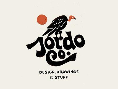 DD&S gritty retro illustration procreate texture selfpromotion handdrawn lettering vulture bird logo