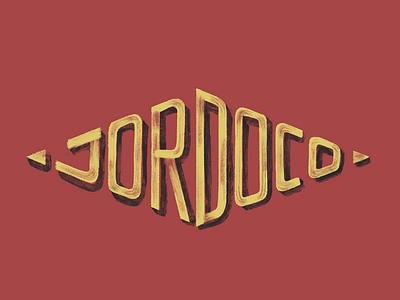 Diamond Badge - Jordo Co vintage worn signpainting lockup logo handlettering typography jordoco lettering