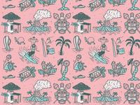 Mai Tai Fling Illustrations