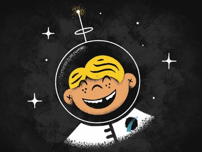 Vectorfuzzies - Spaceboy retrosupplyco midcentury drawing outerspace astronaut boy space
