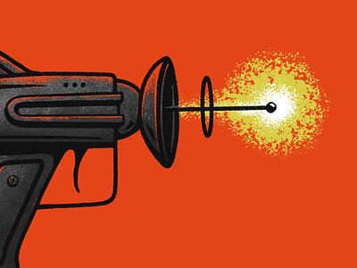 Vectorfuzzies - Deathray illustration texture brushes gun sci-fi future