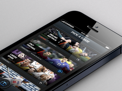 Alternative Screen ui ux app clean modern interface sport soccer basketball reminder