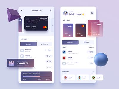 Finance Mobile UI ios mobile design neobanking banking app fintech financial app ux ui graphic card business bank finance app finance