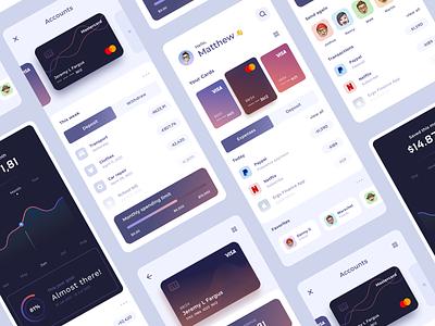 Finance App interface finance app finance business card ui ux financial app fintech banking app neobanking mobile design ios