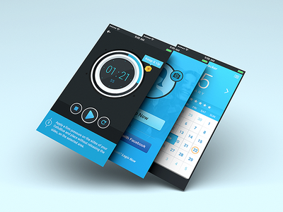Cellublue App app ui timer interface mobile apple android countdown calendar play reward sign up