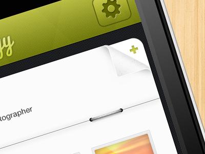 (WIP) Journyy Green ui ux interface iphone ios app travel fold