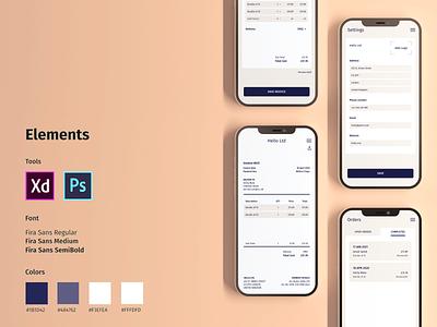 Invoice Concept dailyui mobile adobe xd ux ui