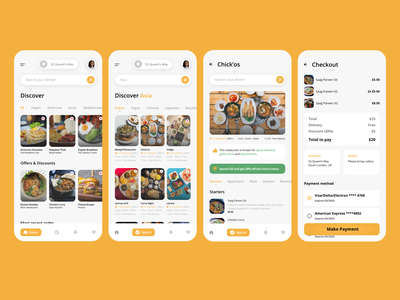Food Delivery Concept food delivery app adobe xd ux ui mobile dailyui