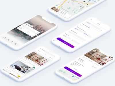 Real Estate Concept real estate app adobe xd ux ui mobile dailyui