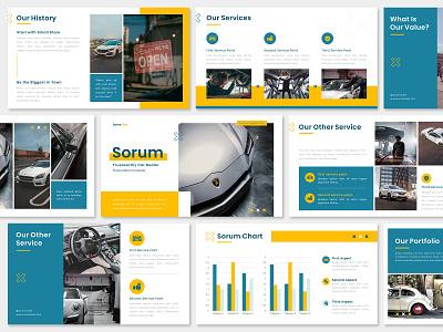 Simple Modern Pitch Deck Presentation Design - Car Dealer offer business car pitch deck layout presentation ppt marketing keynote google slides graphic design designs design