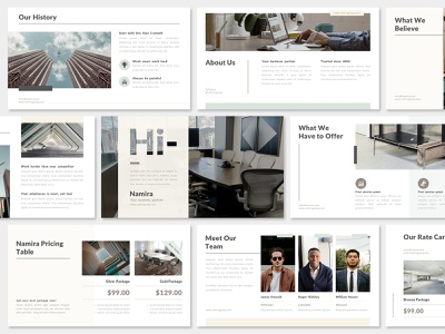 Simple Pastel Pitch Deck Presentation Design - Marketing Agency business offer pitch deck layout presentation ppt marketing keynote google slides designs design graphic design