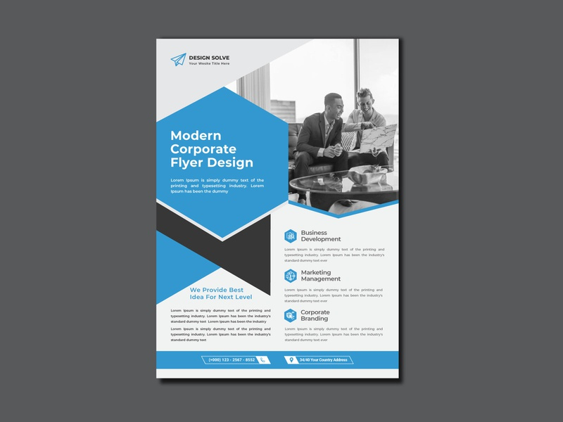 corporate business flyer Design multipurpose modern marketing magazine leaflet handout flyer design creative corporate flyer corporate consultant company clean business flyer business agency advertising advertisement a4
