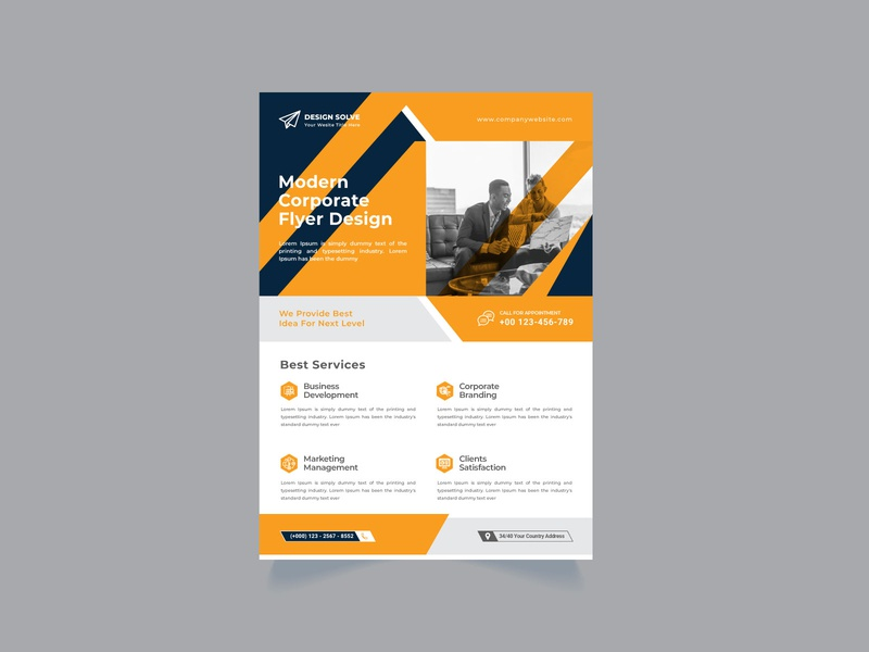 corporate business flyer Design template fresh flyer design flyer flexible elegant editable easy design creative agency creative corporate company communication clean business blue agency advertising a4 size a4