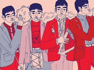 The Beatles streetmusicians beatles artwork musician dance inkdrawing sketch painting drawing digitalillustration illustration