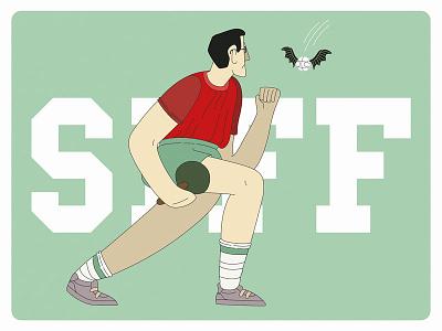 Sport meets Harry Potter boyplaying worldchampionship tabletennis vectorillustration harrypotter illustration