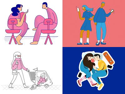 2018 sticker illustration sticker pack editorial illustration illustrator flat illustration flat artwork vector illustration vector art vector artwork digitalillustration illustration