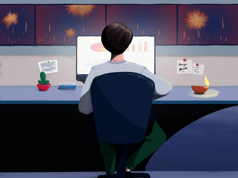 Diwali illustration diwali