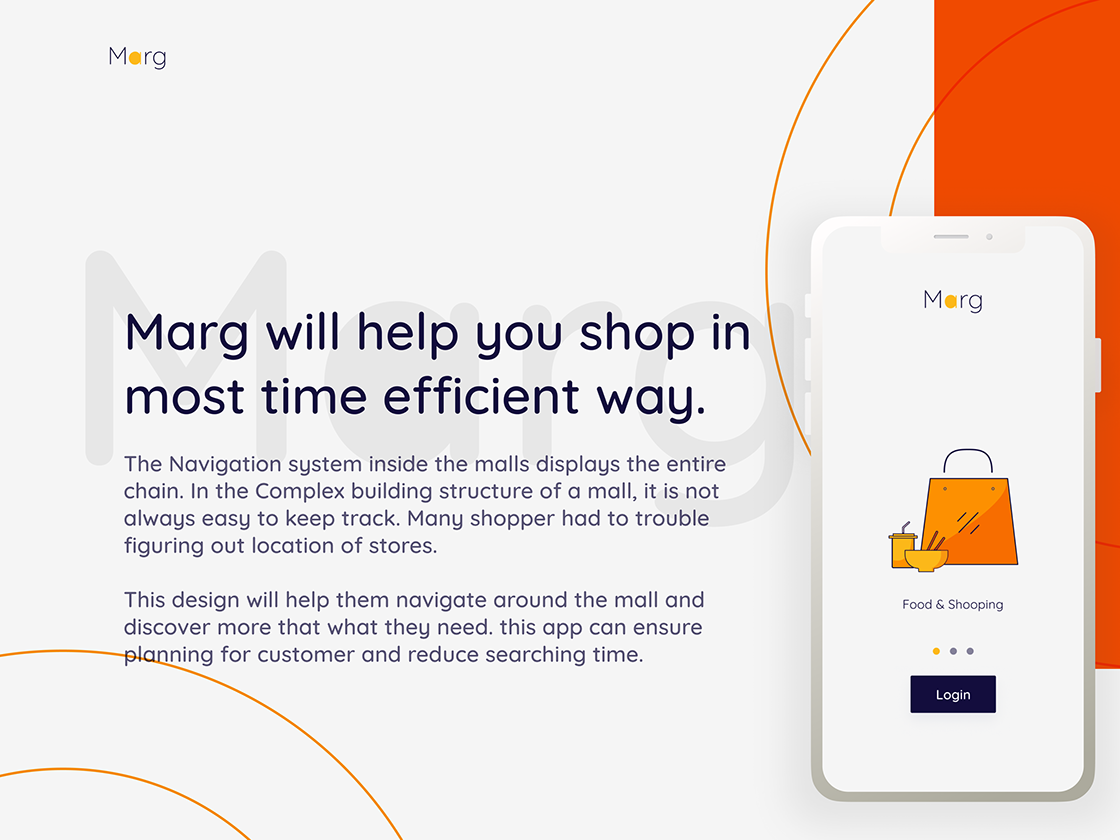 Marg offer e commerce mobile shopping app map indoor iot navigation design chat illustration app ui