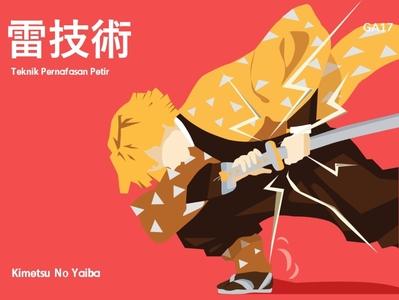 Kimetsu No Yaiba illustrations flatdesign design illustration