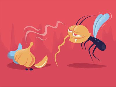 Vampire mosquito smell onion vampire mosquito illustration adobe illustrator
